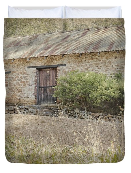 Old Stone Cottage Duvet Cover by Elaine Teague