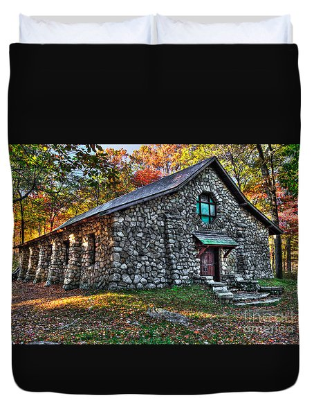 Old Stone Lodge Duvet Cover by Anthony Sacco