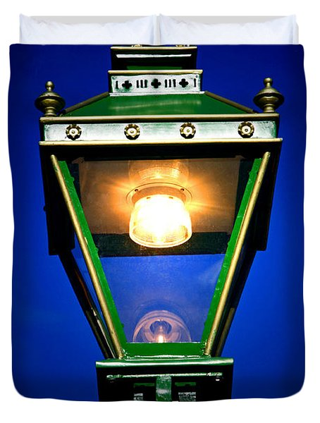 Duvet Cover featuring the photograph Old Streetlamp by Craig B