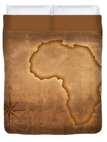 Old Style Africa Map Duvet Cover