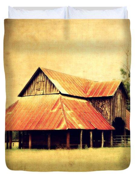 Old Texas Barn Duvet Cover by Julie Hamilton