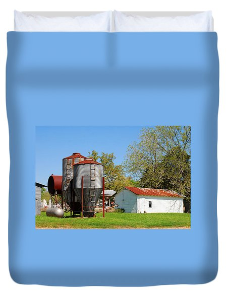 Old Texas Farm Duvet Cover