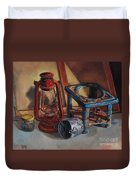 Old Things Duvet Cover by Mohamed Fadul