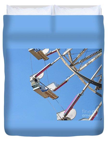 Old Time Ferris Wheel Duvet Cover by Ann Horn