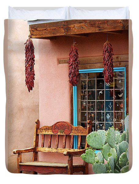Old Town Albuquerque Shop Window Duvet Cover