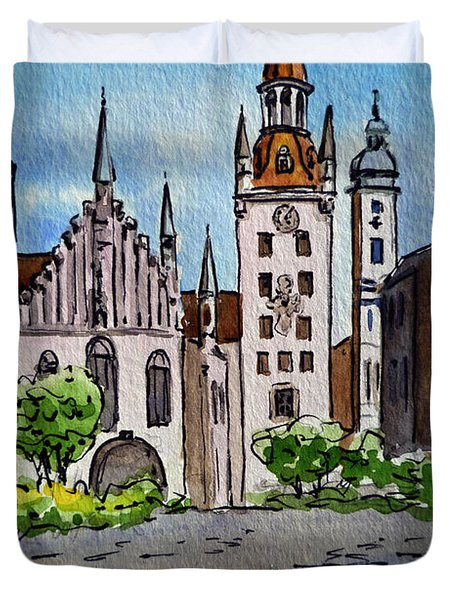 Old Town Hall Munich Germany Duvet Cover