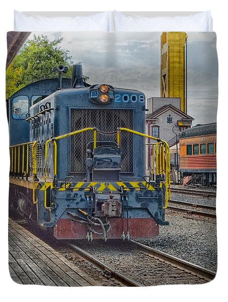 Old Town Sacramento Railroad Duvet Cover