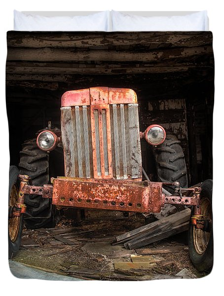 Old Tractor Face Duvet Cover