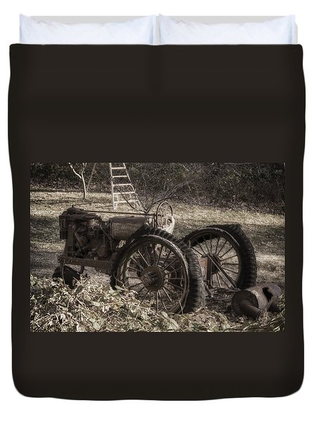 Old Tractor Duvet Cover by Lynn Geoffroy