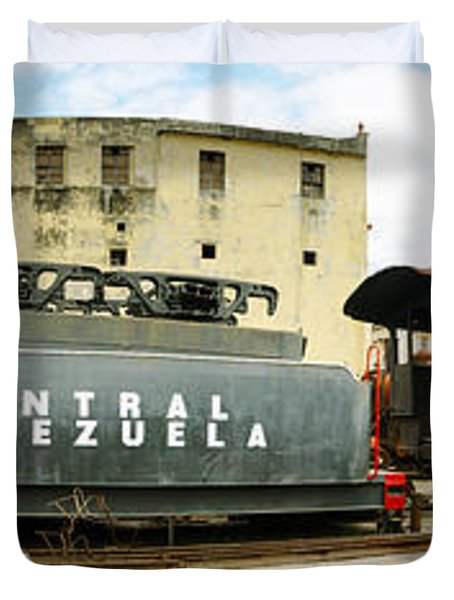 Old Trains Being Restored, Havana, Cuba Duvet Cover by Panoramic Images