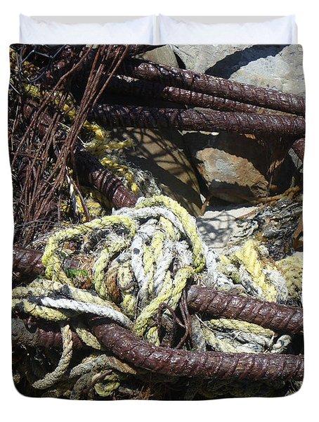 Old Trap  Duvet Cover by Minnie Lippiatt
