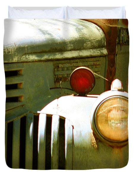 Old Truck Abstract Duvet Cover