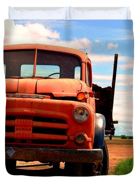 Duvet Cover featuring the photograph Old Truck by Matt Harang