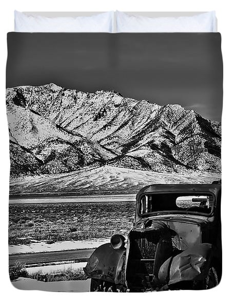 Old Truck Duvet Cover by Robert Bales