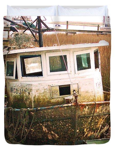Old Tugboat By Jan Marvin Duvet Cover