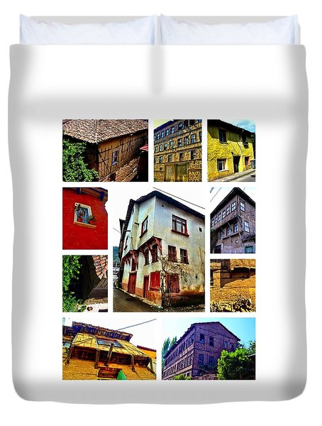 Old Turkish Houses Duvet Cover