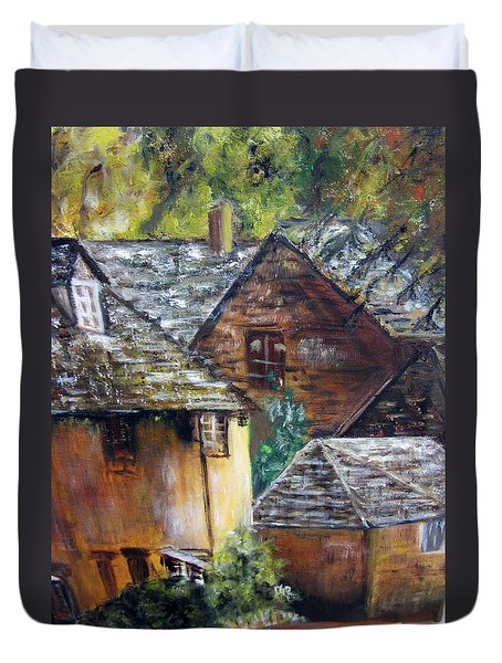 Old Village Duvet Cover