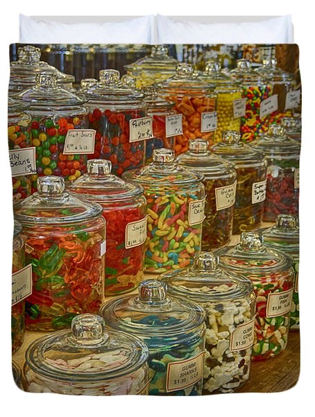 Old Village Mercantile Caledonia Mo Candy Jars Dsc04014 Duvet Cover