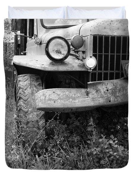 Old Vintage Dodge Work Truck Duvet Cover