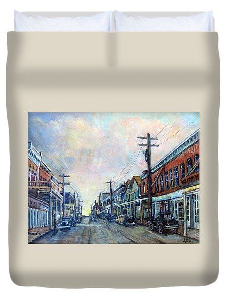 Old Virginia City Duvet Cover by Donna Tucker