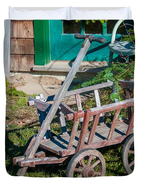 Old Wagon Duvet Cover by Guy Whiteley