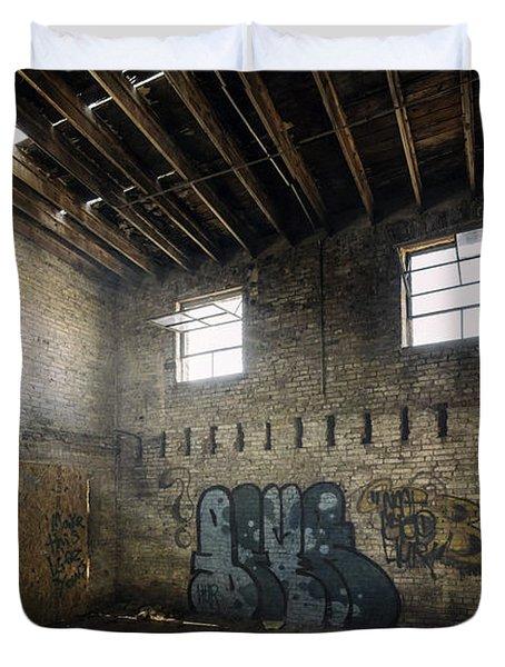 Old Warehouse Interior Duvet Cover by Scott Norris