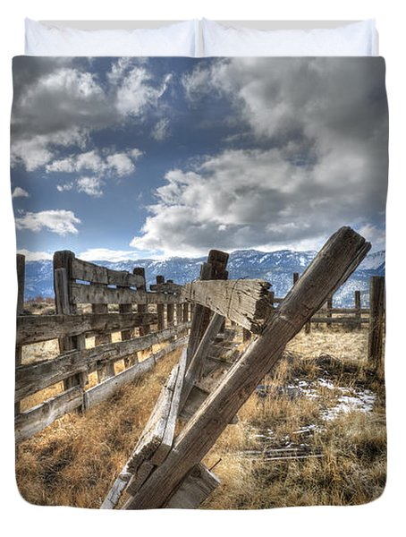 Old Washoe Corral Duvet Cover by Dianne Phelps