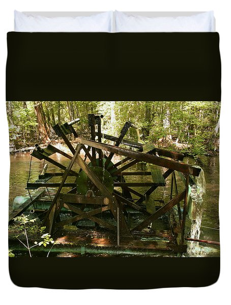 Old Waterwheel Duvet Cover