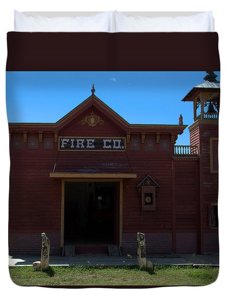 Old West Fire Station Duvet Cover