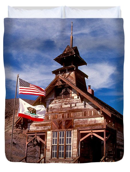 Old West School Days Duvet Cover