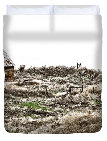 Old West School  Duvet Cover by Steve McKinzie