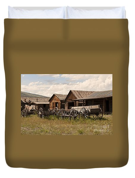Old West Wyoming  Duvet Cover