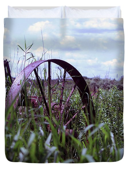 Old Wheel  Duvet Cover
