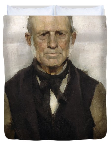 Old Willie - The Village Worthy, 1886 Duvet Cover by Sir James Guthrie