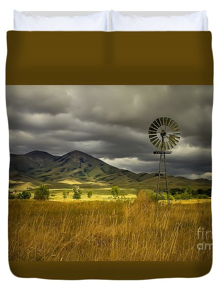 Old Windmill Duvet Cover by Robert Bales