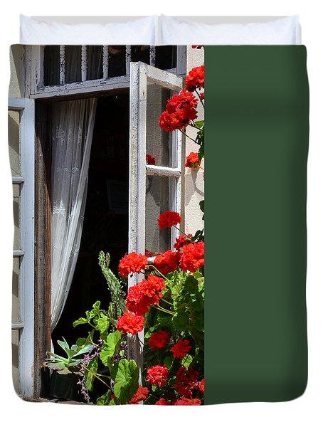 Old Window Duvet Cover