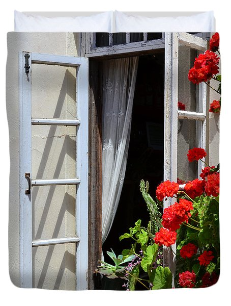 Duvet Cover featuring the photograph Old Window by Debby Pueschel