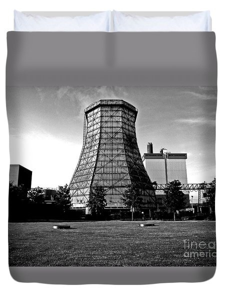 Old Wooden Cooling Tower Duvet Cover by Andy Prendy
