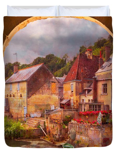 Old World Duvet Cover by Debra and Dave Vanderlaan
