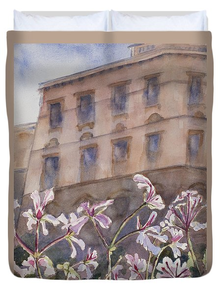 Old World Windowbox Duvet Cover by Mary Benke