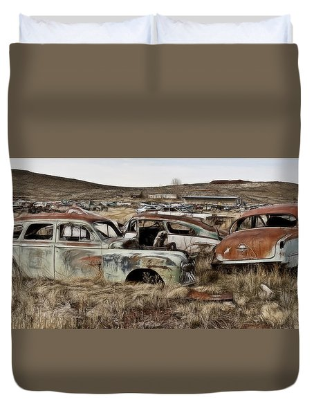 Old Wrecks Duvet Cover