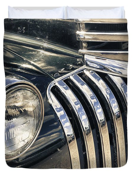Oldblackchevytruck Duvet Cover by Lori Frostad