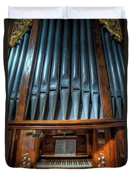 Olde Church Organ Duvet Cover by Adrian Evans