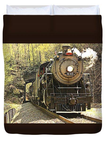Ole' #630 Steam Train Duvet Cover