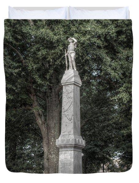 Ole Miss Confederate Statue Duvet Cover
