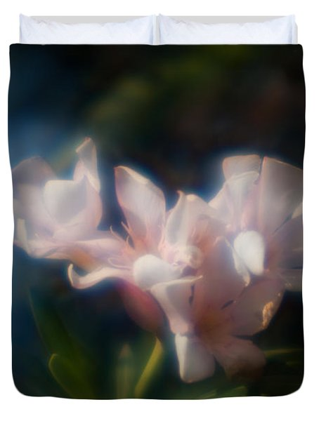 Duvet Cover featuring the photograph Oleander 1 by Travis Burgess