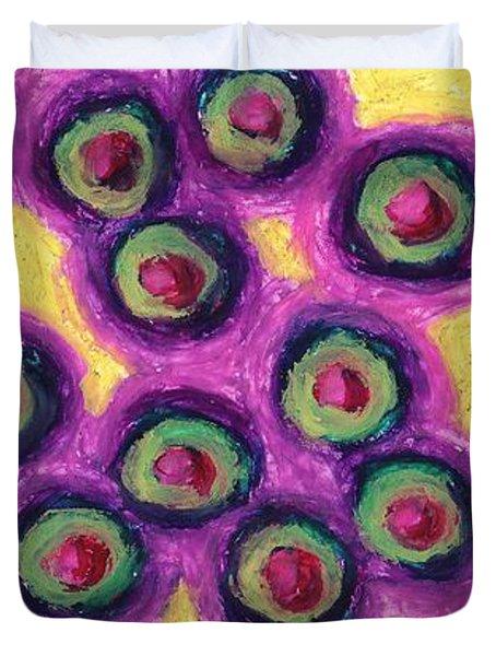 Olives Duvet Cover by Daina White