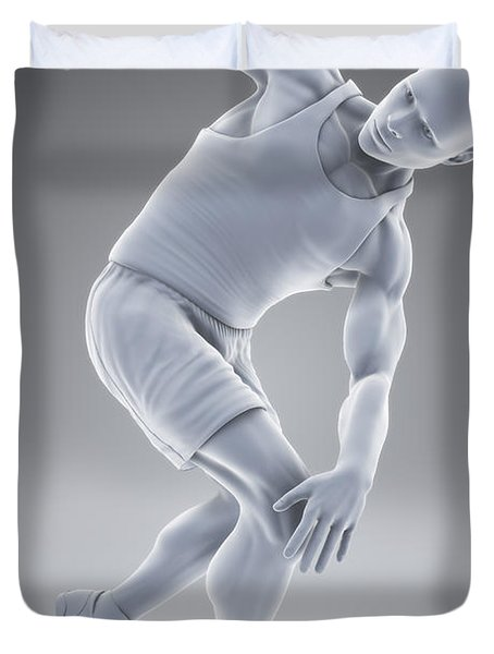 Olympic Pose Duvet Cover