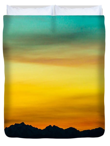 Olympics In Color Duvet Cover