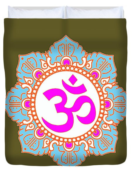 Om Mantra Ommantra 3 Duvet Cover by Navin Joshi